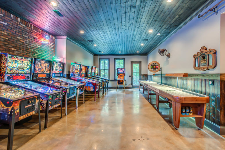 turn the whole basement into pinball heaven (Superior Custom Homes & Remodeling)