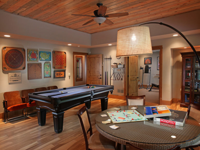 any basement game room is perfect to keep friends and family entertained
