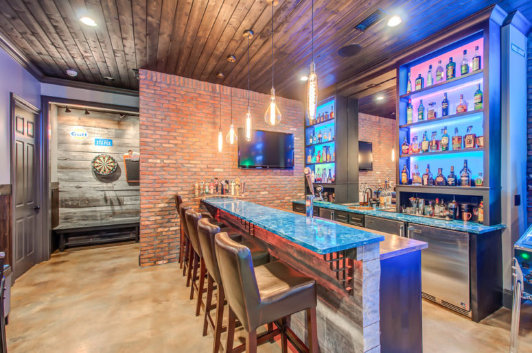 even a dedicated darts zone would work in a basement (Superior Custom Homes & Remodeling)