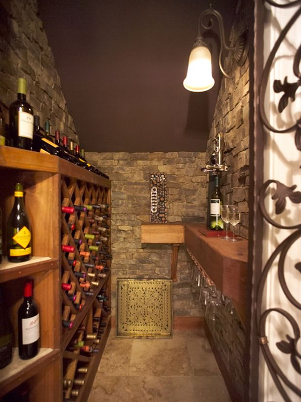 A wine cellar could be right under the stairs.