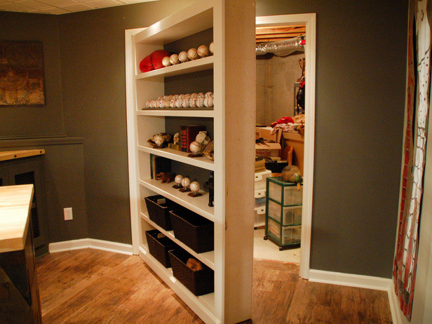 You could turn a part of your basement into a secret room to hide all this storage. (Anitra Mecadon Inc)