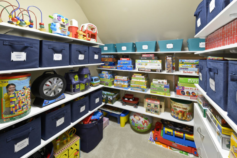 Do not put as much stuff as shelves could hold. You won't be able to find anything. (Organized Living)