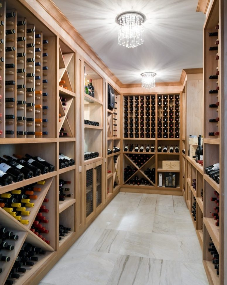 Basements are often used as wine cellars thanks to their climate.  (Barroso Homes)