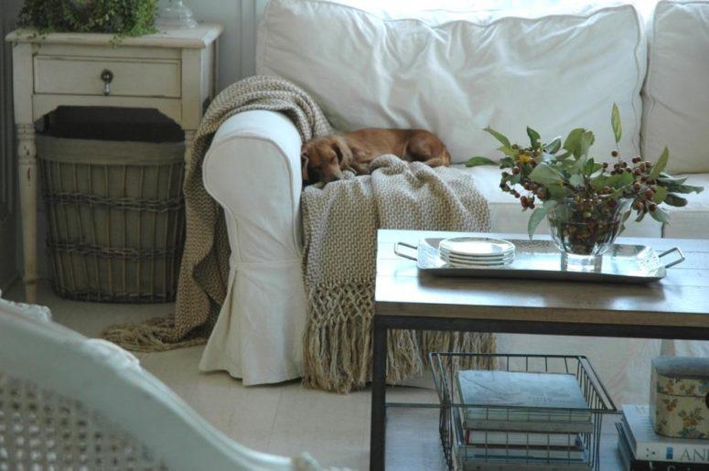 white sofa fit well farmhouse interiors