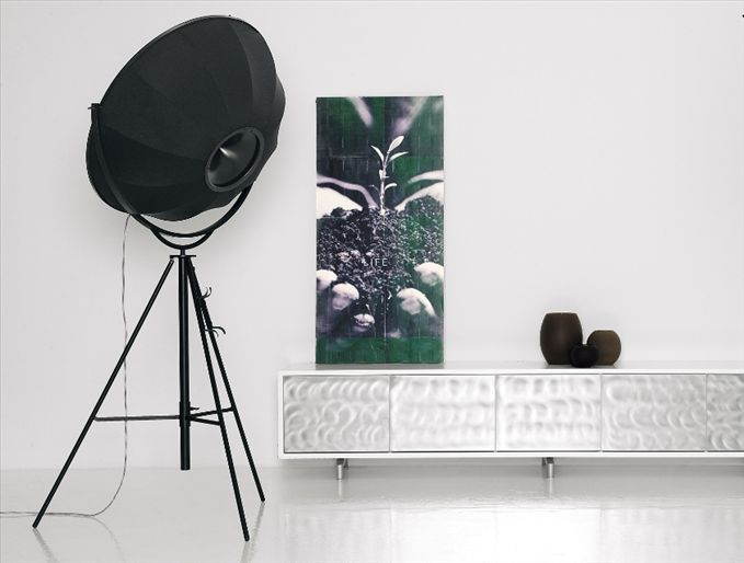 Picture Of Fortuny floor lamp is modern and timeless piece inspired by the lights of 1907