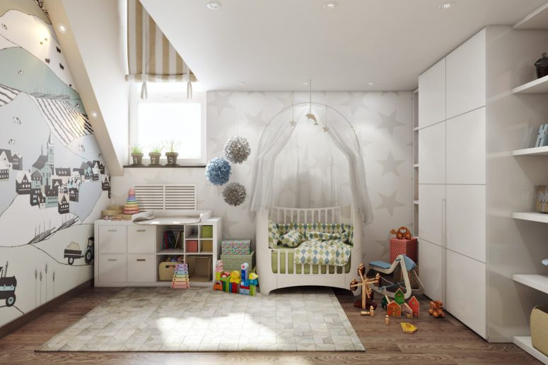 Peaceful Boy's Room Design In Neutral Shades