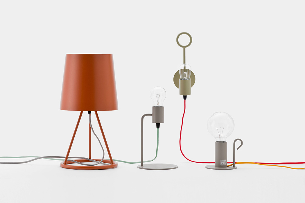 The Pit collection of lighting objects is a minimalist one