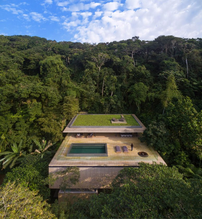 Jungle House With A Rooftop Infinity Pool