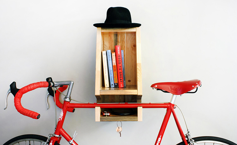 Wooden Bike Rack Made With Blighted Canadian Pine