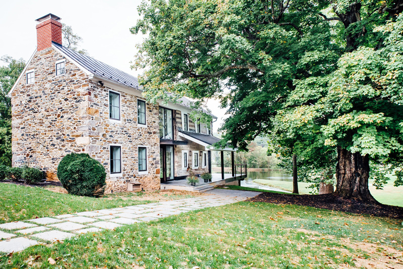 This primitive rustic house with industrial touches was built by Cortney Bishop