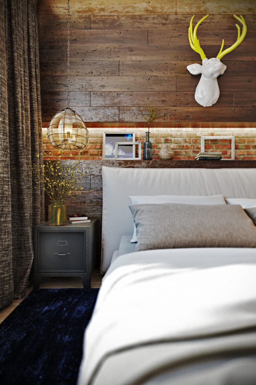 Rustic Industrial Bedroom: Bold Industrial Meets Rustic Bedroom Decor