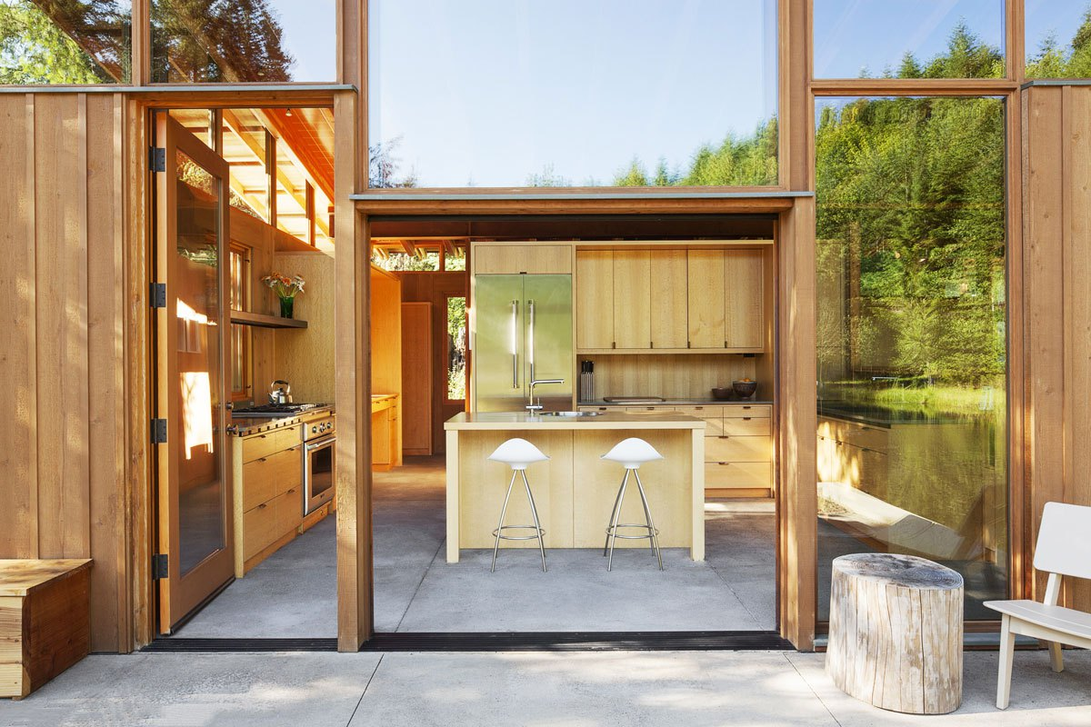 The interiors are open to outdoors as much as possible to connect the owners with nature