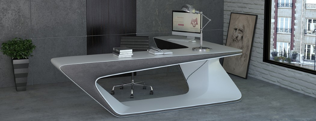 Futuristic L Shaped Desk For Modern Workspaces Digsdigs