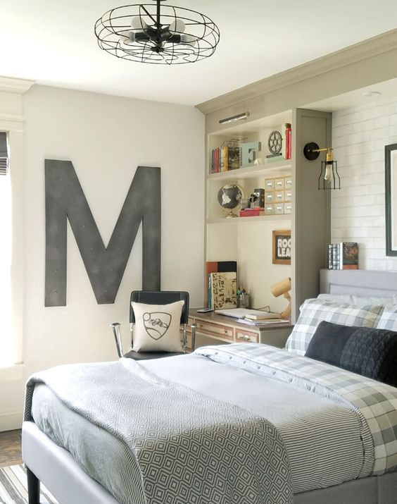 35 ideas to organize and decorate a teen boy bedroom for Bedroom ideas for boys