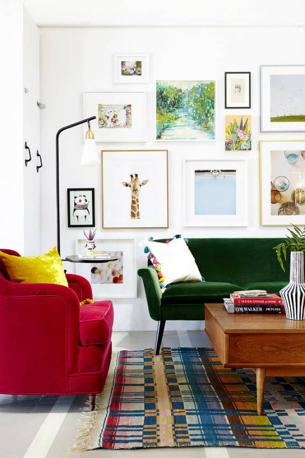 27 Daring Red And Green Interior Décor Ideas - DigsDigs