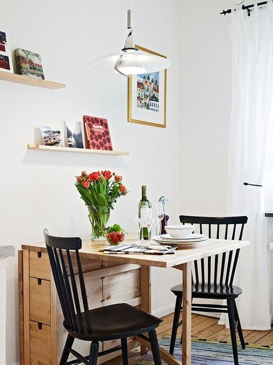 Norden Gateleg table fits even the smallest dining space