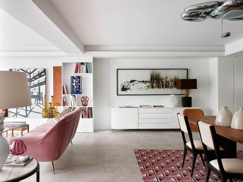 mid century modern apartment design filled with african art digsdigs