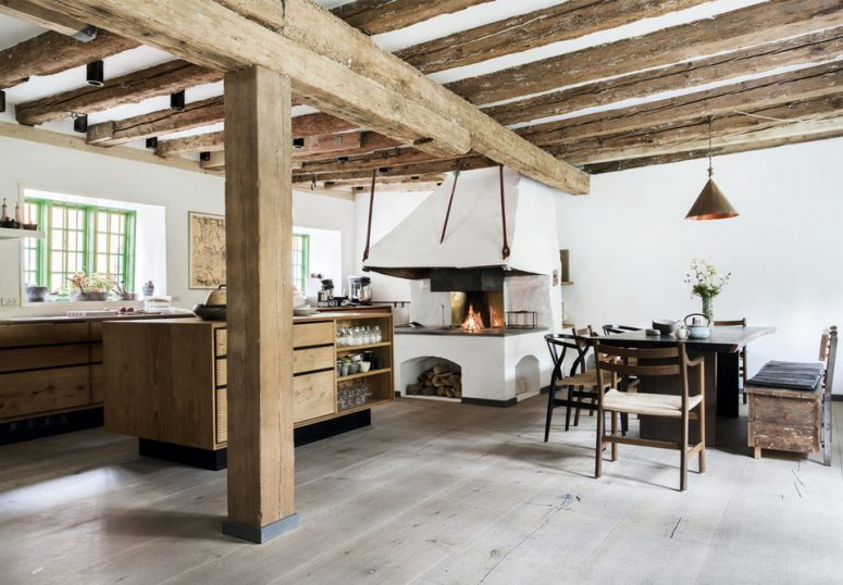 House With Rough Exposed Wooden Beams