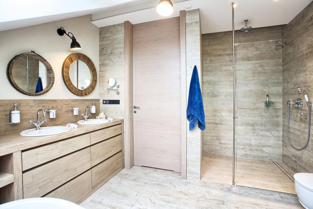 Wood Gives The Bathroom Warmth And Style