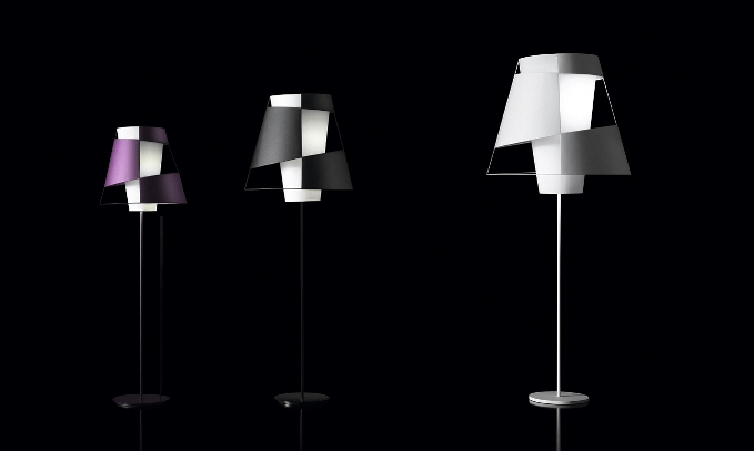 Crinolina lamps evoke the shape of old-fashioned skirts with their asymmetrical looks