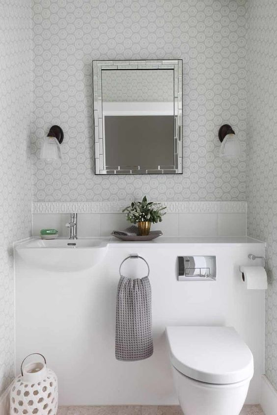 basin and toilet built-in design