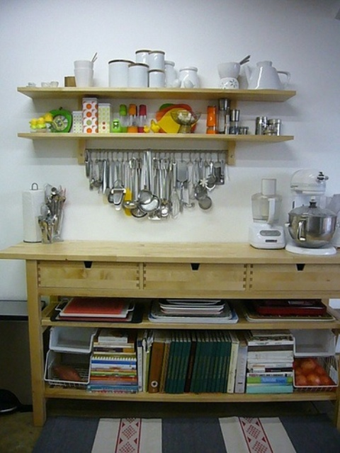 naturally finished Norden for kitchen storage