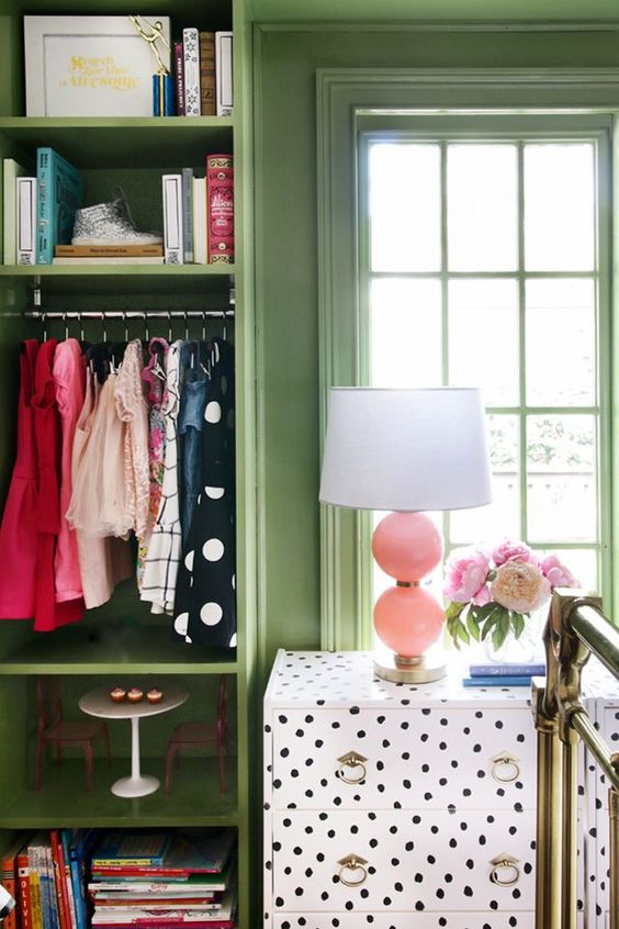 dotted upgrade for a closet