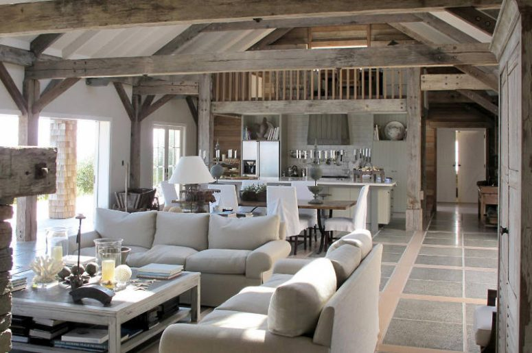 Coastal Barn House Covered With Weathered Wood Digsdigs