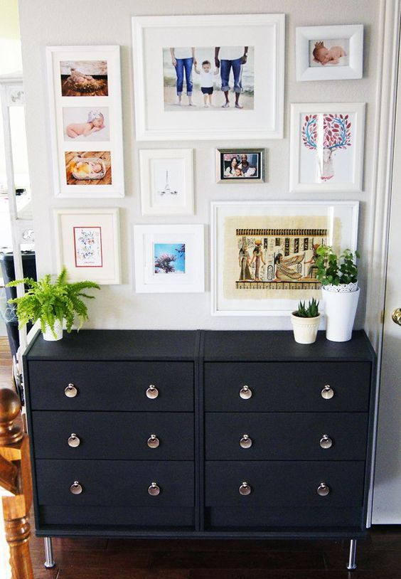 Double Ikea Rast Dresser In Black With Whimsy Handles