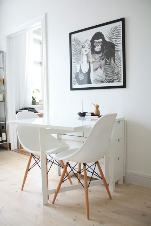 delightful Norden Table Hack Part - 9: The table in a monochromatic dining room looks good