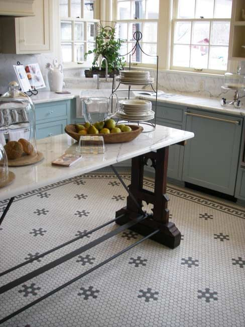 Mosaic Tile Floors With Decorative Elements