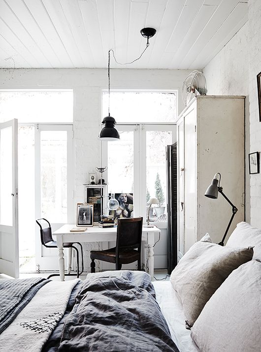 27 cool bedrooms and workspaces in one digsdigs - Pinterest deco vintage ...