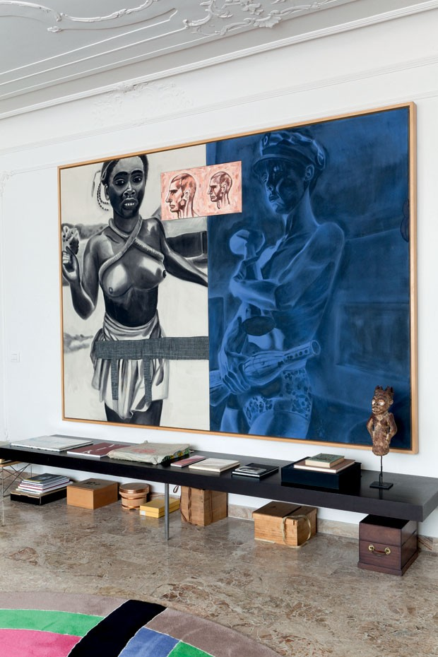 The piece is a painting by David Salle
