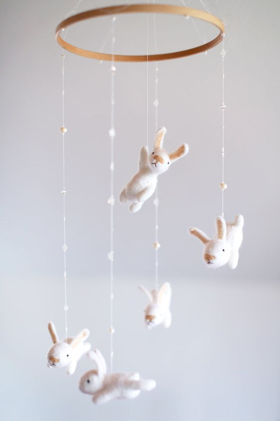bunny nursery mobile
