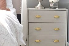 10 glam pearl grey Rast hack for a bedside table