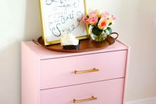 11 glam pink Rast hack for a living room