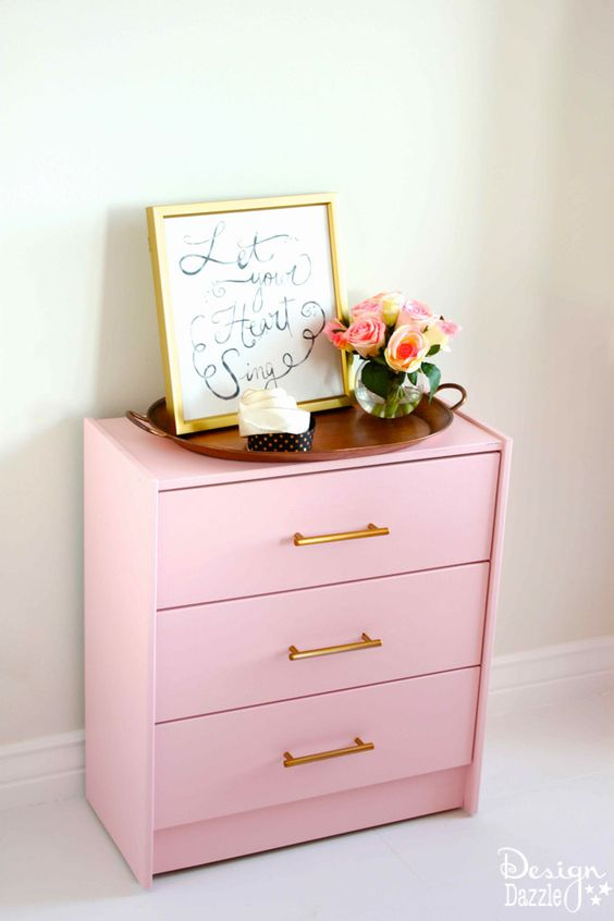glam pink Rast hack for a living room