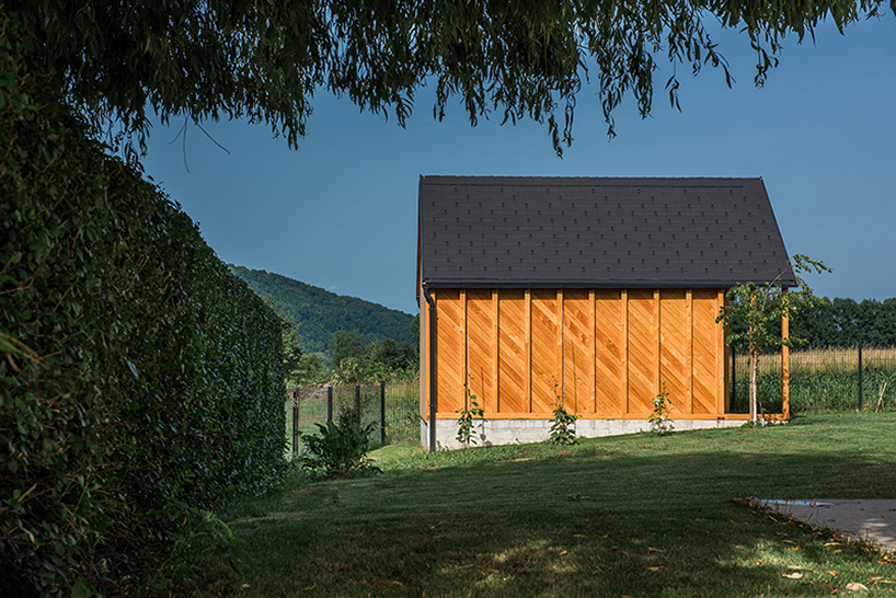There's also a shed designed in the same style as the house