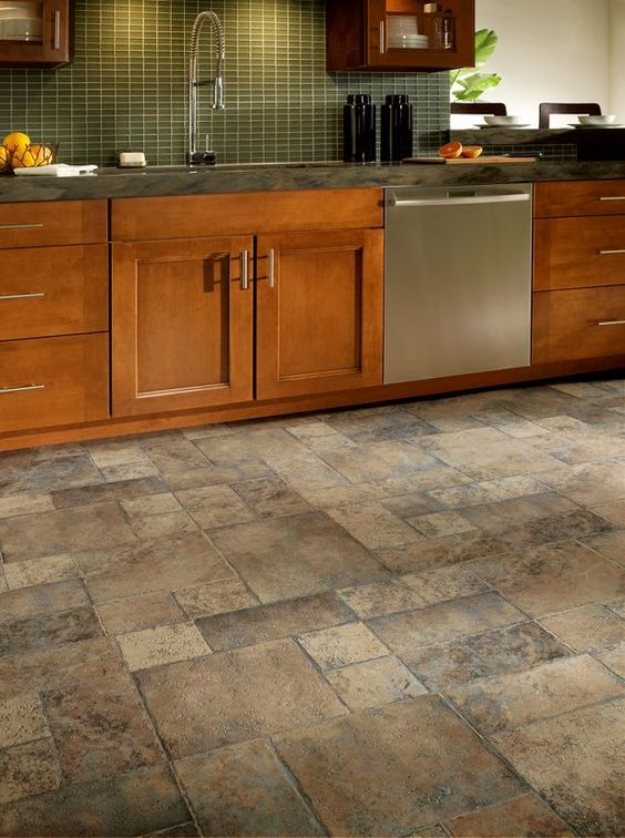 30 practical and cool looking kitchen flooring ideas for Looking for kitchen