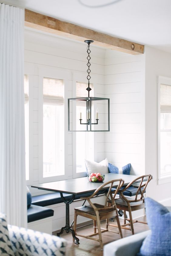 coastal and rustic nook by the window