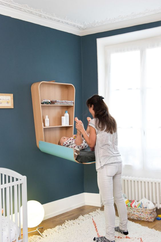 folding changing table for tiny nurseries