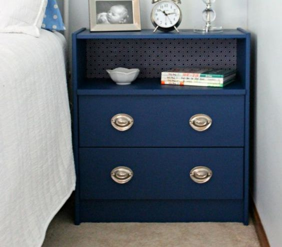 Rast dresser transformed into a bedside table