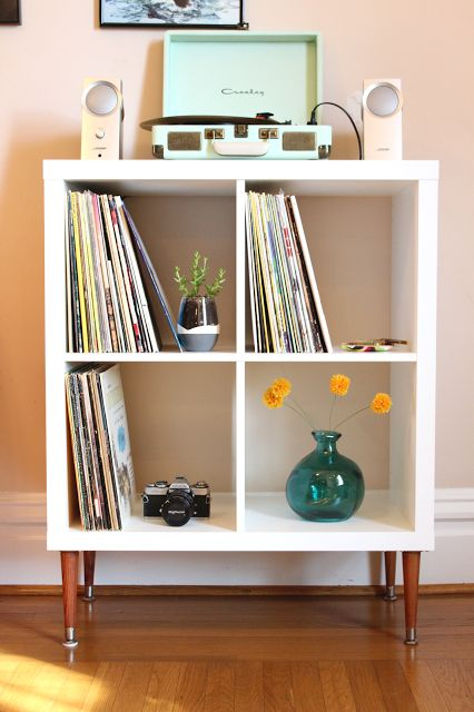 Kallax as a vinyl record shelf