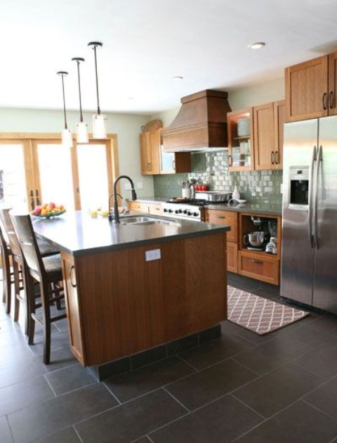 Large Black Tiles For Kitchen Floors