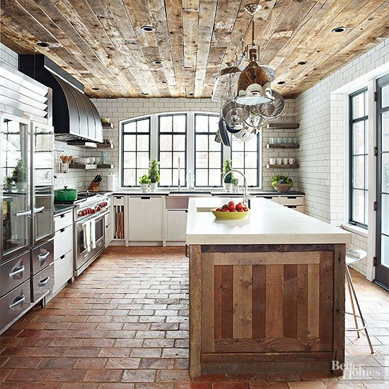 Reused Brick Floors