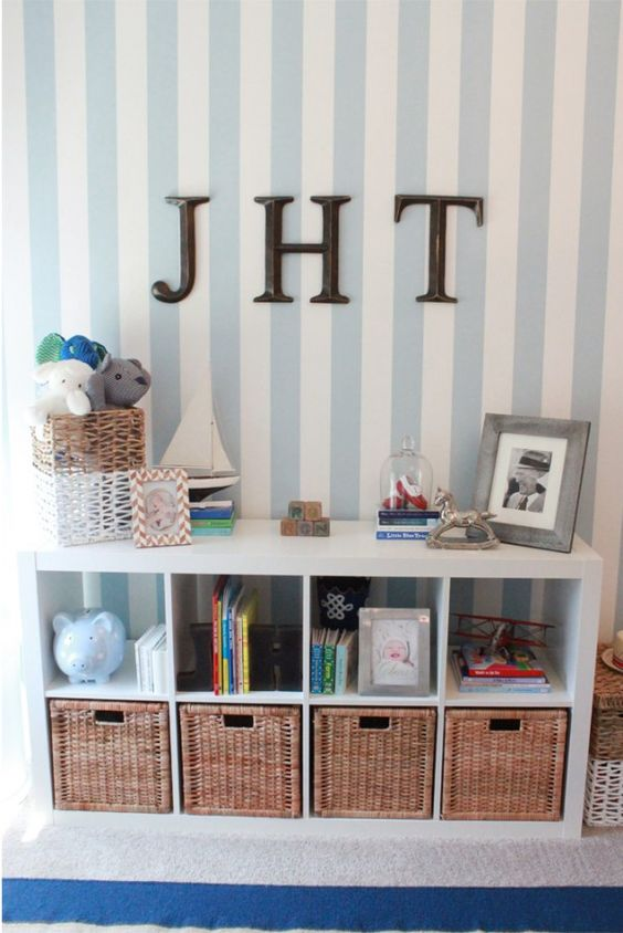 Kallax shelf as a kids' room storage piece