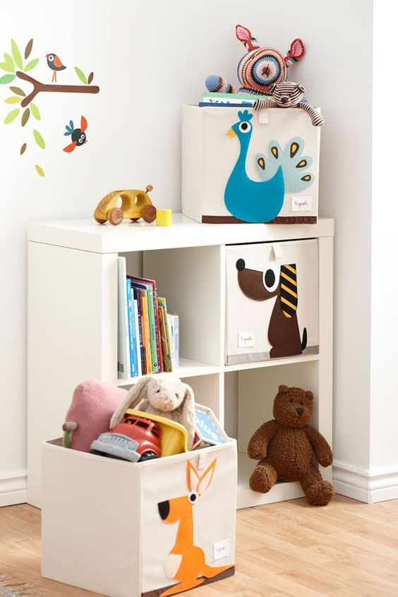 Kallax unit with drawers for kids' room storage