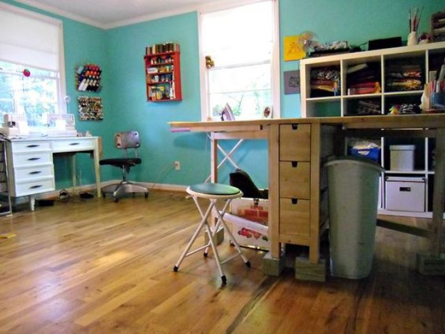 It's a practical solution for a sewing and  craft room.