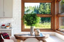 20 rustic breakfast nook with a view outside