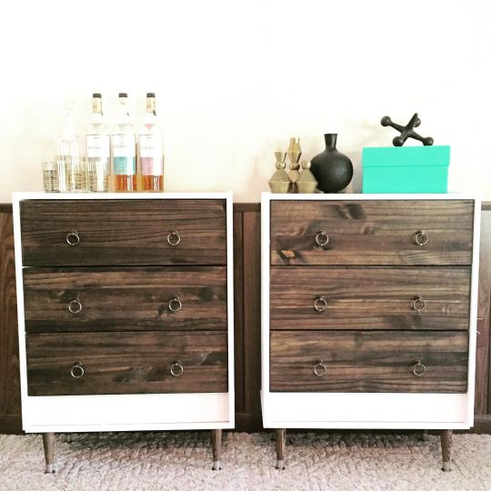 Modern White Nightstand With Drawers